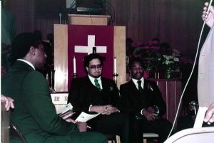 My ordination day in December 1984 with my brother in the ministry, Rev. Walter M. Brown, Jr. at New Hope Missionary Baptist Church, Portland, Oregon