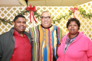 Minister C.J. Calhoun and his mom, Sis. Varita Griffin with me at the Christmas Program.