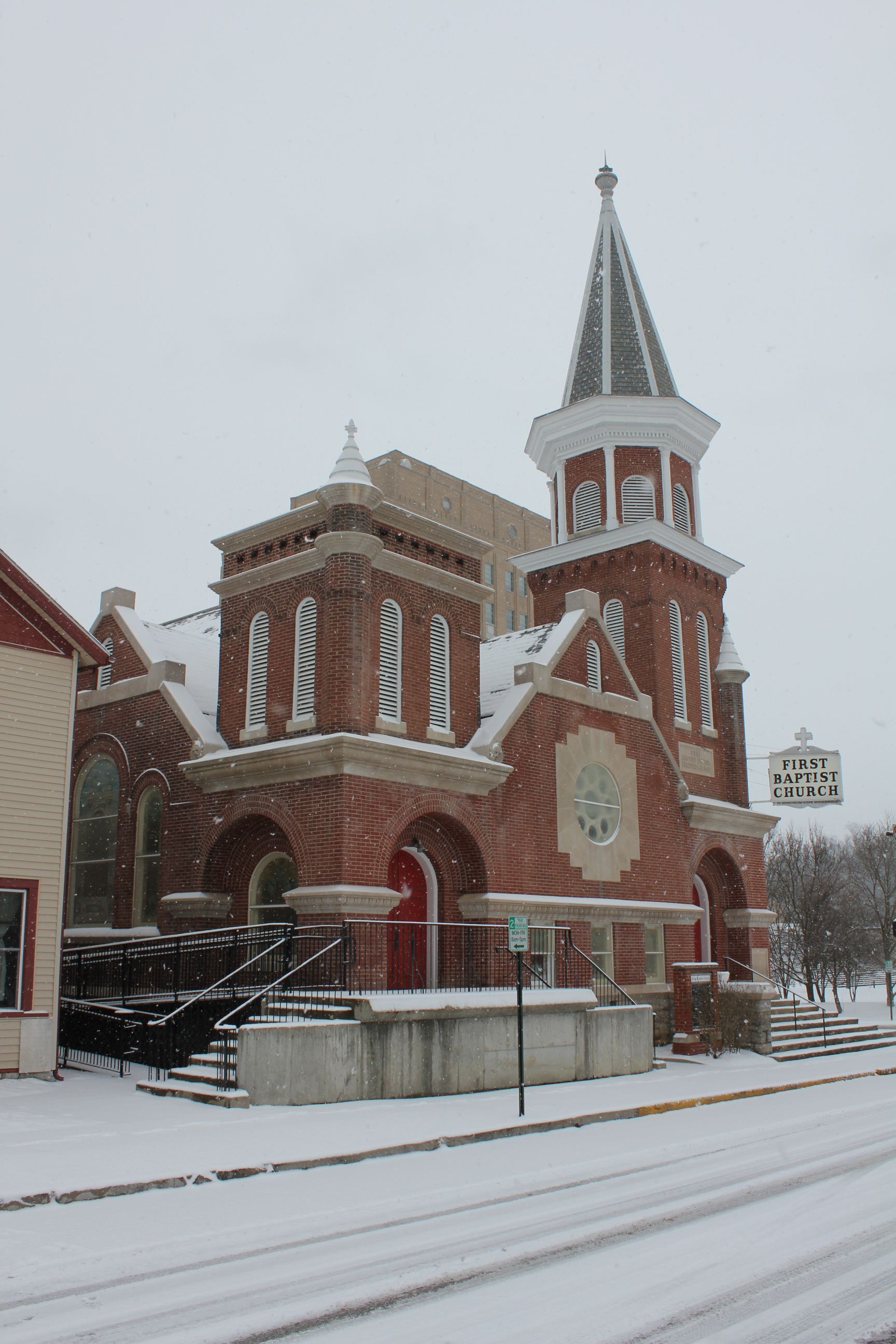 Winter at First Baptist Church, 2014.