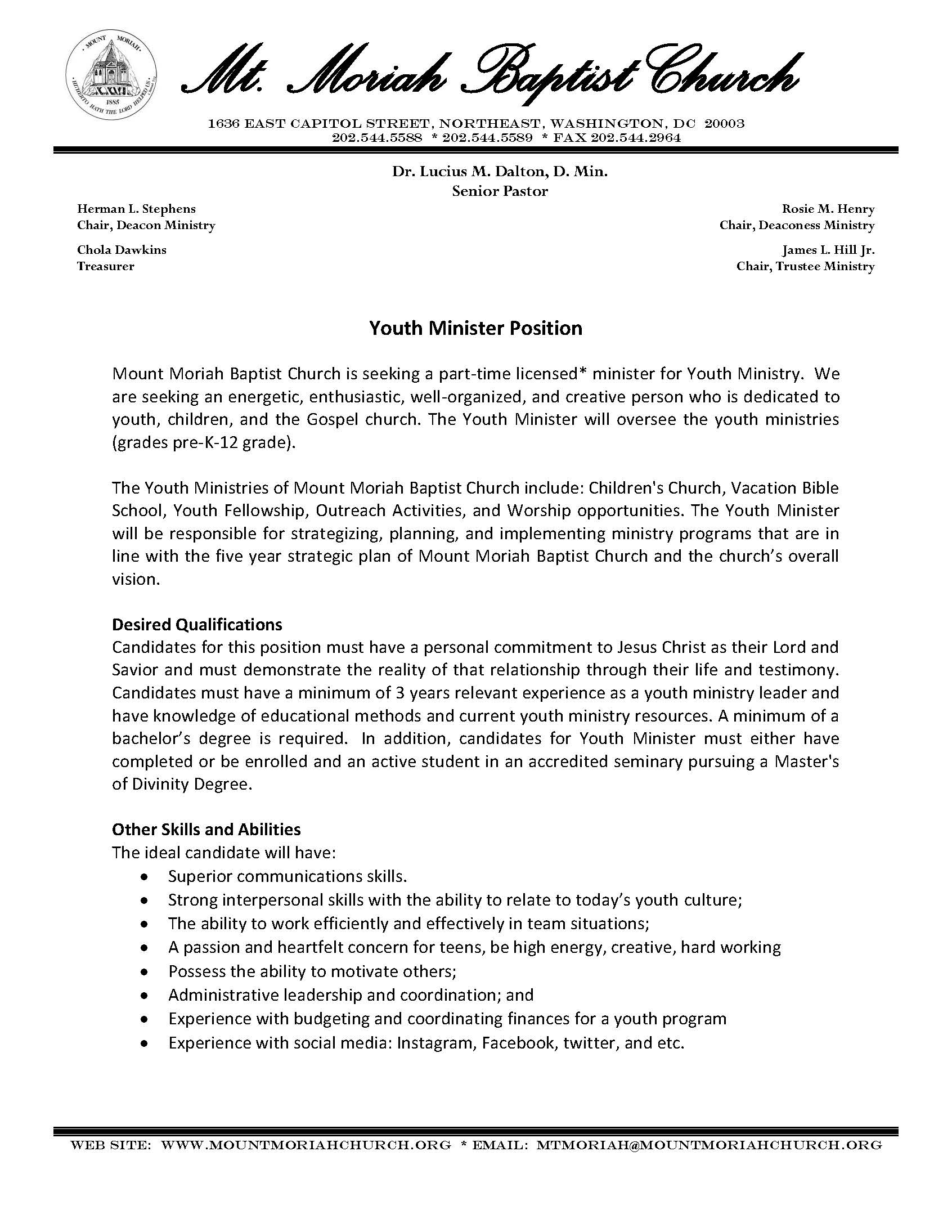 Youth pastor cover letter timiznceptzmusic youth pastor cover letter altavistaventures Images